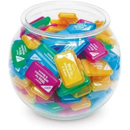 Piksters Fluro Orthodontic Wax Fish Bowl - 150 Pieces
