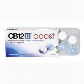 CB12 Boost Sugar Free Chewing Gum - Strong Mint -  10 Pieces Per Pack