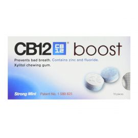 Cb12 Boost Strong Mint Sugar Free Chewing Gum - Pack Of 10 Pellets