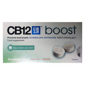 Cb12 Boost Eucalyptus White Sugar Free Chewing Gum - Pack Of 10 Pellets