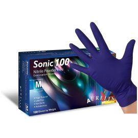 Aurelia Sonic Nitrile Powder Free Cobalt Blue Gloves Medium - Pack Of 100