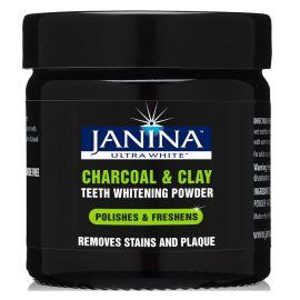 Janina Ultra White Charcoal & Clay Teeth Whitening Powder 40g