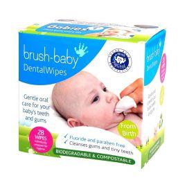 Brush Baby Dental Wipe Sleeve (0-16 Months) - 28 Wipes Per Pack