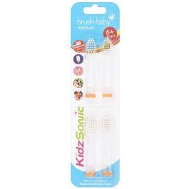 brush-baby KidzSonic Replacement Heads 6+ Years - 4 Brushes Per Pack