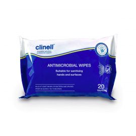 Clinell Antimicrobial Hand and Surface Wipes 20 Wipes Per Pack