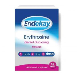 Endekay Erythrosine Dental Disclosing 12 Tablets
