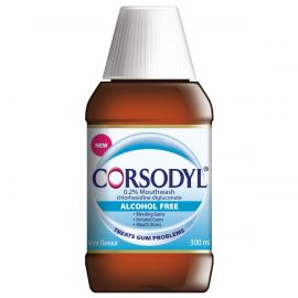 Corsodyl Antibacterial Alcohol Free Mouthwash 300ml