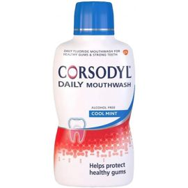 Corsodyl Daily Cool Mint Alcohol Free Mouthwash - 500 ml