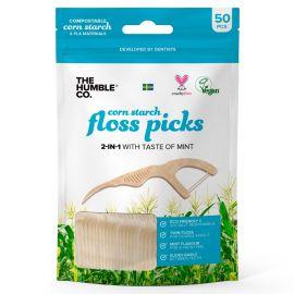 Humble Floss Picks P Shape - Pack of 50