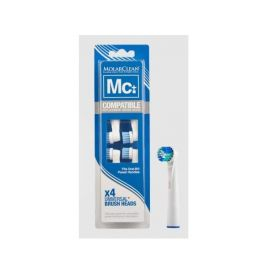 Molarclean Toothbrush Replacement Heads - 4 piece in 1 pack