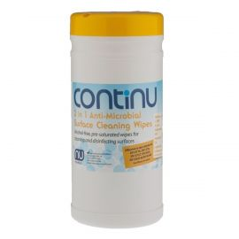 Nuview Continu 2 In 1 Surface Cleaning & Disinfectant Wipes Tub - Pack Of 200