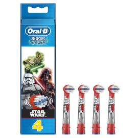 Oral-B Stages Kids Star Wars Replacement Toothbrush Head - 4 Heads Per Pack