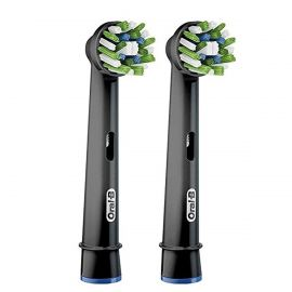 Oral-B Cross Action CleanMaximiser Black Toothbrush Heads - Pack Of 2