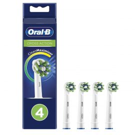 Oral-B CrossAction CleanMaximiser Toothbrush Heads - Pack Of 4