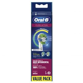 Oral-B Floss Action CleanMaximiser Replacement Heads - Pack Of 4