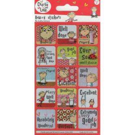 Paper Projects Charlie & Lola Reward Sticker - 15 Stickers  Per Pack