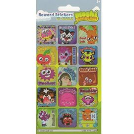 Paper Project Moshi Monsters Reward Sticker - 15 Stickers Per Pack