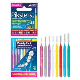 Piksters For Cleaning Between Teeth Variety Of All Size - Pack Of 8