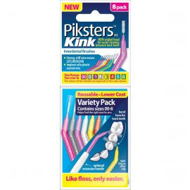 Piksters Kink Size 00-6 Variety Pack - 8 Brushes Per Pack