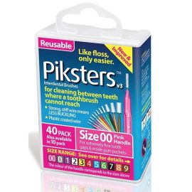 Pikster Pink Interdental Brush Size 00 - Pack Of 40