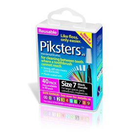 Pikster Interdental Brushes 1.1mm - Black Size 7 - Pack Of 40