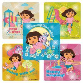 Shermans Dora Glitter Stickers - 50 Per Pack