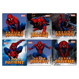 Sherman Spiderman Patient Stickers - Pack Of 100