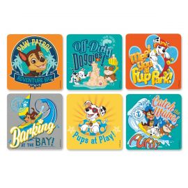 Sherman Paw Patrol Stickers - Pack Of 100