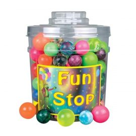 Sherman Superball Canister Mix Balls - Pack Of 132