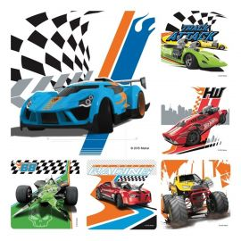 Smilemakers Hot Wheels Cars Stickers - Pack Of 100