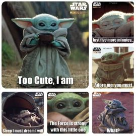 SmileMakers Star Wars Baby Yoda Characters Stickers - Pack Of 100