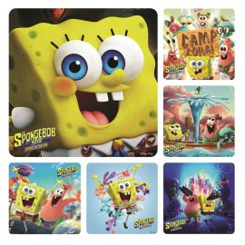 Smilemakers Sponge On The Run Sponge BOB Movie Stickers - Pack Of 100