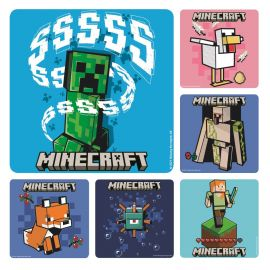 Smilemakers Mine Craft Stickers - Pack Of 100