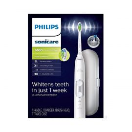 Philips Sonicare Protective Clean 6100 Electric Toothbrush (UK 2-pin Bathroom Plug) - White