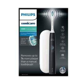Philips Sonicare Protective Clean 4300 Electric Toothbrush (UK 2-pin Bathroom Plug) - Black