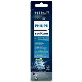Philips Black Sonicare Premium Plaque Defence BrushSync Replacement Heads - Pack Of 4
