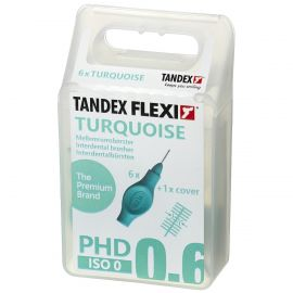 Tandex Flexi Turquoise Interdental Brushes 0.60mm - Pack Of 6
