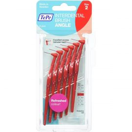 Tepe Angle Interdental Brush - Red - 6 Brushes Per Pack