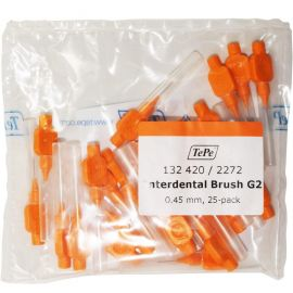 Tepe Angle Interdental Brushes Orange Pack Of 25