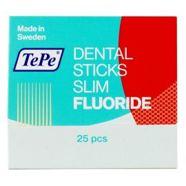 Tepe Dental Wood Stick Slim With Fluoride - Pack Of 25