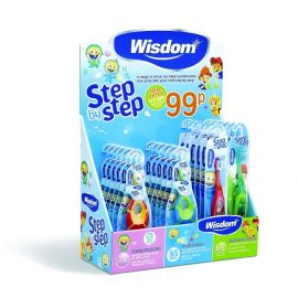 Wisdom Step By Step £1 Counter Display Unit 22 Pieces