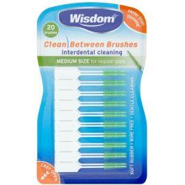 Wisdom Clean Between Interdental Medium Green Brushe - 20 Brushes Per Pack