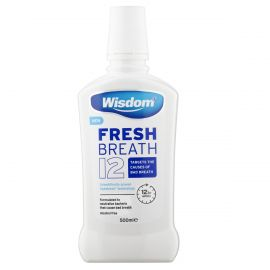 Wisdom Fresh Breath 12 Mouthwash 500ml