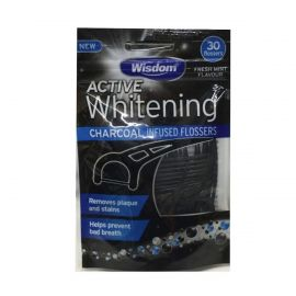 Wisdom Active Whitening Charcoal Floss Harps - Pack Of 30