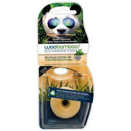 WooBamboo Natural Mint Eco Floss Waxed 37.5m