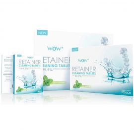 WOW Retainer Cleaning Tablet - Mint Flavour - 60 Tablets Per PaCK